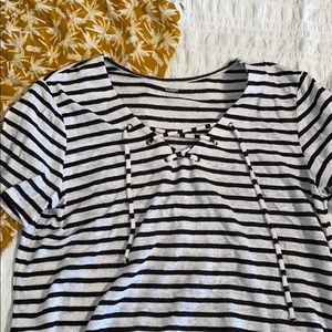 Old Navy Lace Up Tee